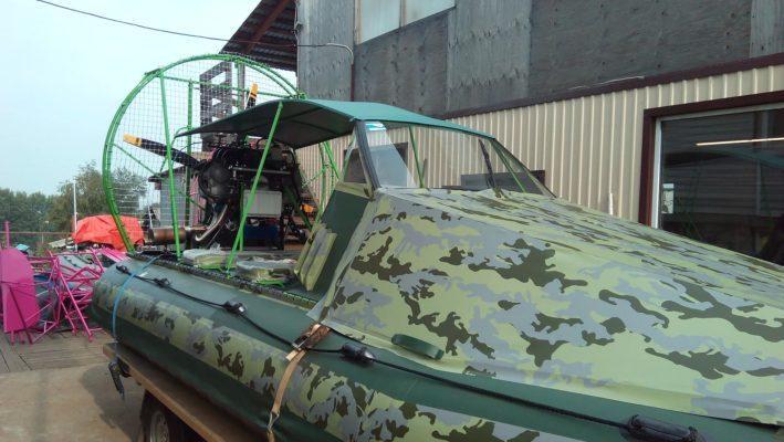 Аэролодка с кабиной