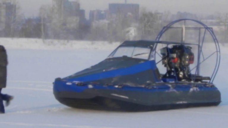 Аэролодка Касатка 6 на льду